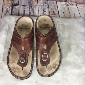 FINN COMFORT Made Germany Brown Leather Sandals-7